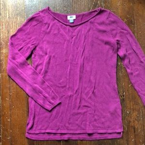 Old Navy fuchsia pink sweater